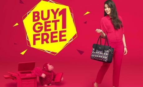 Buy 1 and get 1 Offer at JASHANMAL Home Department Store, March 2018
