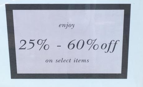 25% - 60% Sale at Kate Spade, April 2017