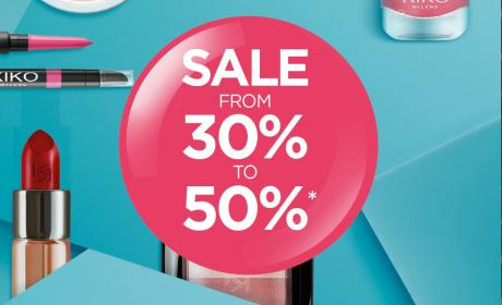 30% - 50% Sale at Kiko Milano, July 2018