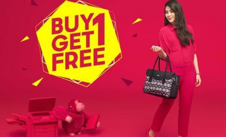 Buy 1 and get 1 Offer at Kipling, April 2018