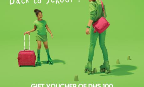 Spend 500 and get gift voucher of DHS 100 Offer at Kipling, September 2017