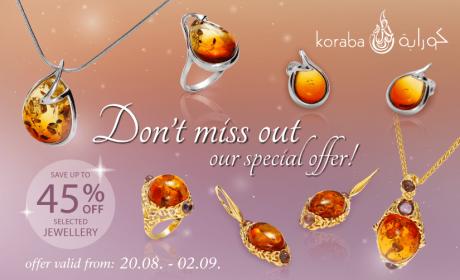 Up to 45% Sale at Koraba, September 2018