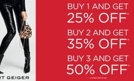 Buy 3 and Buy 3 Get 50% off Offer at Kurt Geiger, November 2016