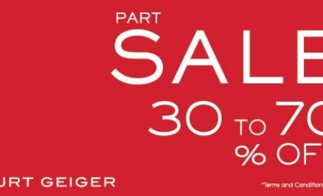 30% - 70% Sale at Kurt Geiger, May 2017