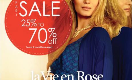 25% - 70% Sale at La Vie En Rose, February 2015
