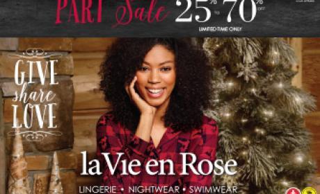 25% - 70% Sale at La Vie En Rose, January 2016