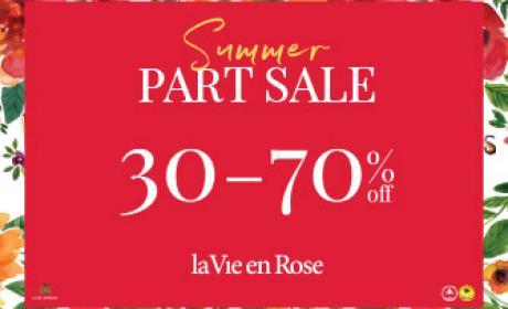 30% - 70% Sale at La Vie En Rose, August 2017