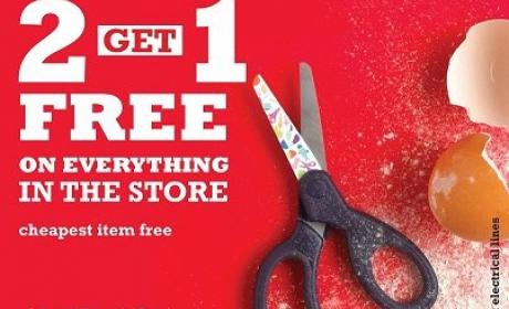 Buy 2 and get 1 Offer at Lakeland, July 2014