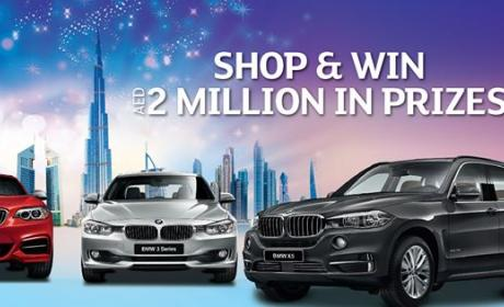 Spend 200 and win 6 BMW's + AED 500,000 in instant shopping vouchers Offer at Lamcy Plaza, September 2014