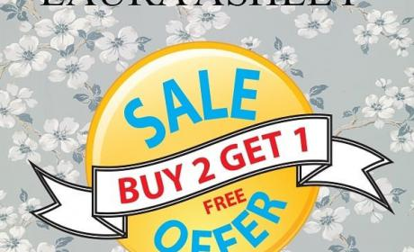 Buy 2 and get 1 Offer at Laura Ashley Home, September 2018