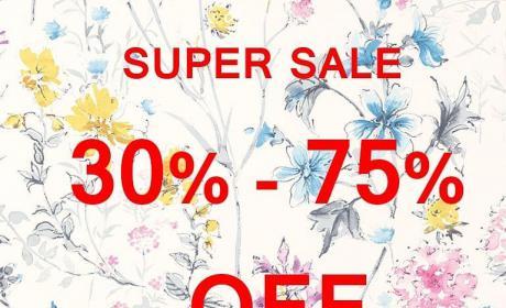 30% - 75% Sale at Laura Ashley Home, May 2018