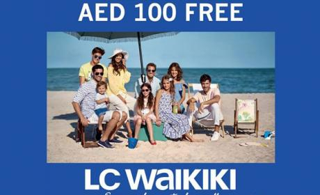 Spend 250 & get AED 100 free Offer at LC WAIKIKI, September 2017