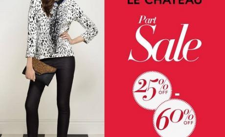 25% - 60% Sale at LE CHATEAU, December 2014