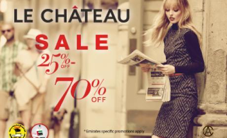25% - 70% Sale at LE CHATEAU, December 2015