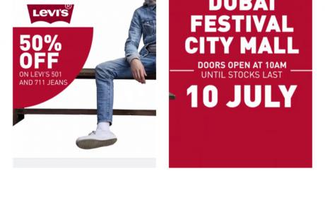 Special Offer at Levi's, July 2018