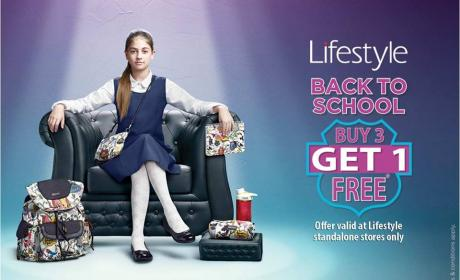 Buy 3 and get 1 Offer at Lifestyle, September 2016