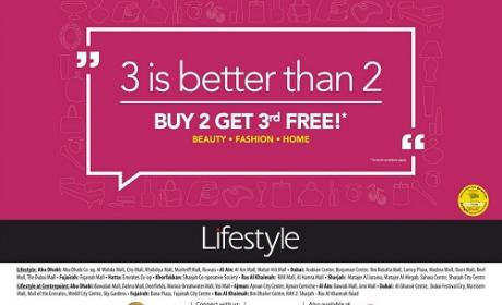 Buy 2 and get 1 Offer at Lifestyle, October 2016