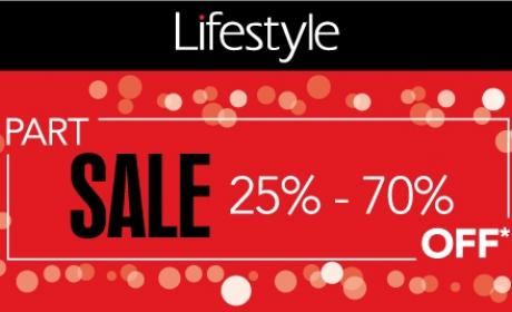 25% - 70% Sale at Lifestyle, September 2016