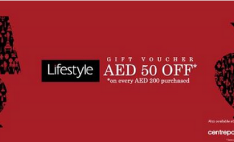 Spend 200 and receive AED 50 Gift Voucher Offer at Lifestyle, February 2015