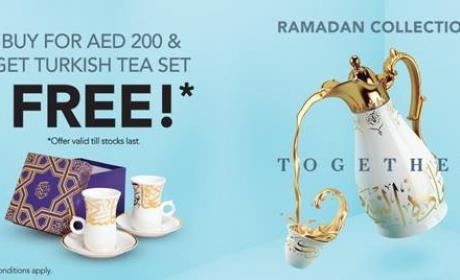 Spend 200 And get a turkish tea set free Offer at Lifestyle, June 2017