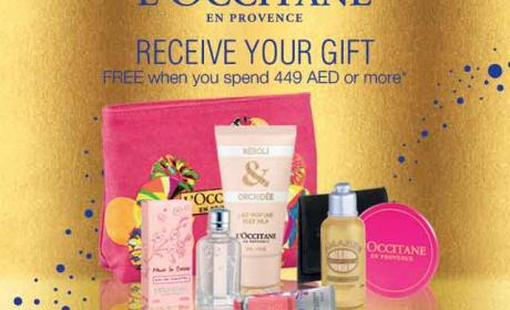 Spend 449 and receive your gift FREE Offer at L'occitane, November 2014