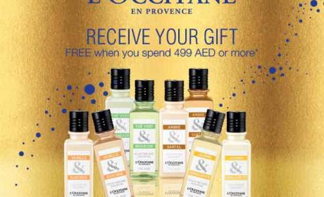 Spend 499 Receive your gift FREE Offer at L'occitane, December 2014