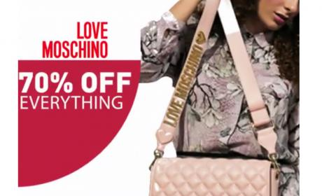 Up to 70% Sale at love moschino, July 2018