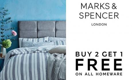 Buy 2 and get 1 Offer at Marks & Spencer, March 2018