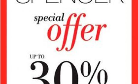 Up to 30% Sale at Marks & Spencer, August 2014