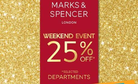 Up to 25% Sale at Marks & Spencer, November 2016