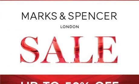 Up to 50% Sale at Marks & Spencer, April 2017