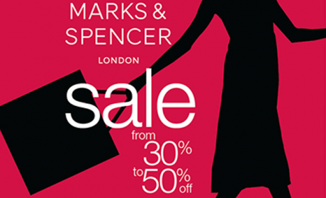 30% - 50% Sale at Marks & Spencer, January 2018