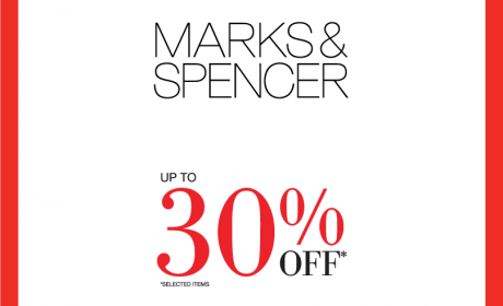 Up to 30% Sale at Marks & Spencer, August 2018