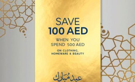 Spend 500 and get AED 100 voucher Offer at Marks & Spencer, June 2017