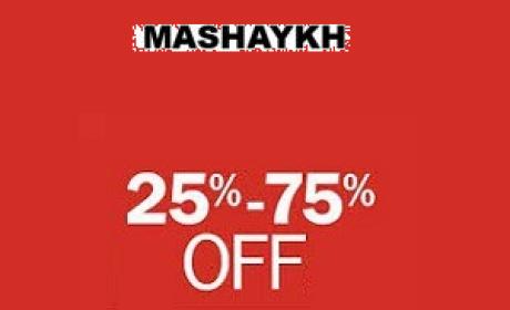 25% - 75% Sale at Mashaykh, July 2016
