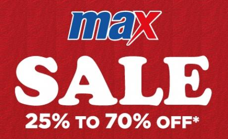 25% - 70% Sale at Max, August 2018