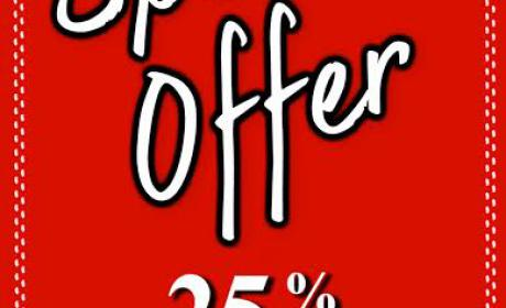 Up to 25% Sale at Monalisa, September 2016