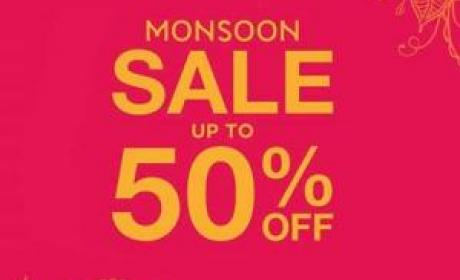 Up to 50% Sale at Monsoon, July 2017