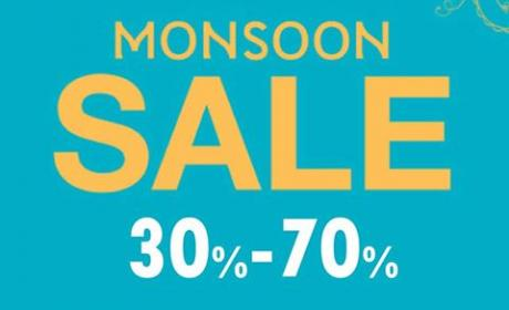 30% - 70% Sale at Monsoon, July 2017