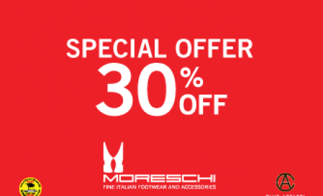 Up to 30% Sale at Moreschi, August 2017