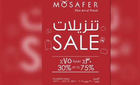 30% - 75% Sale at Mosafer, July 2017