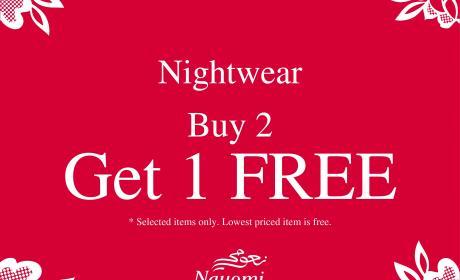 Buy 2 and get 1 Offer at Nayomi, May 2016