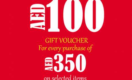 Spend 350 and get 100 AED gift voucher Offer at Nazih, April 2017