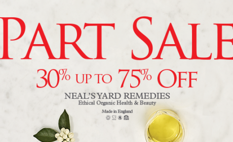 30% - 75% Sale at Neal's Yard Remedies, August 2017