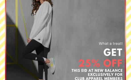 Up to 25% Sale at New Balance, August 2018
