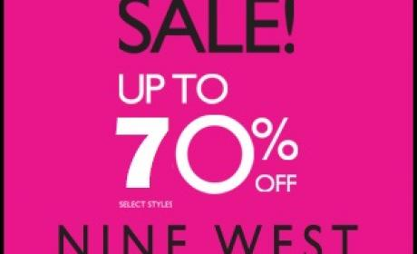 25% - 70% Sale at Nine West, February 2016
