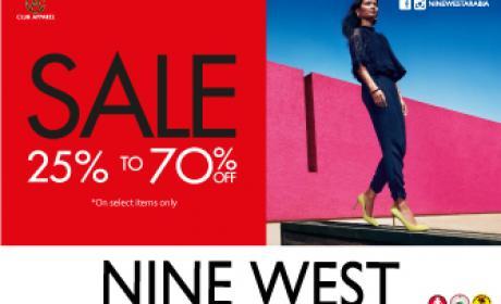 25% - 70% Sale at Nine West, August 2016
