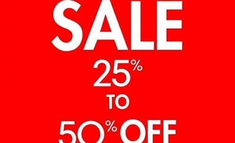 25% - 50% Sale at Nine West, May 2017