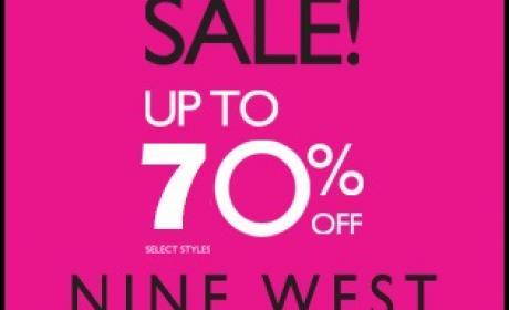 30% - 70% Sale at Nine West, August 2017