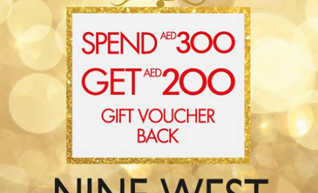 Spend 300 and get AED 200 gift voucher back Offer at Nine West, July 2016